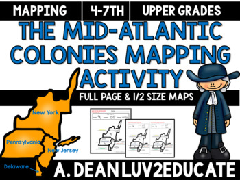 Colonial America: Mid-Atlantic Colonies Interactive Notebook Mapping Activity