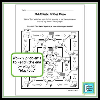 Mid-Atlantic States Maze