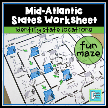 Mid-Atlantic States Worksheet