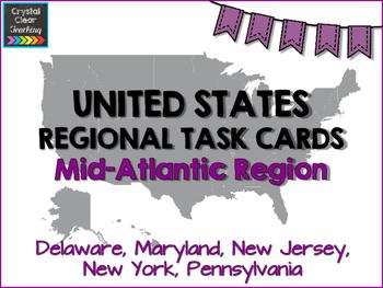 Mid-Atlantic State Region Task Cards