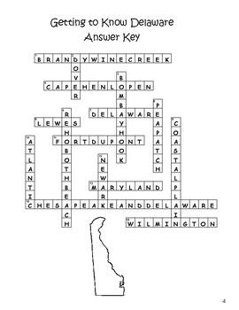 Mid-Atlantic States Crossword Puzzles