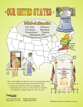 Mid-Atlantic States-'Our United States' 32-Page Lesson Plans Booklet