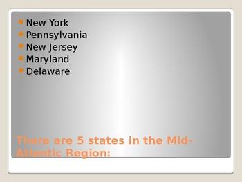 Mid Atlantic region PowerPoint