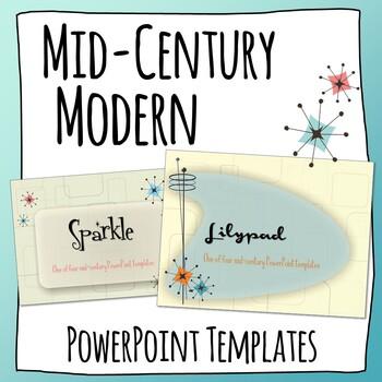 Mid-Century Modern PowerPoint Templates