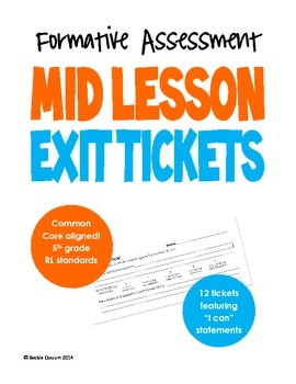 Mid Lesson Exit Tickets