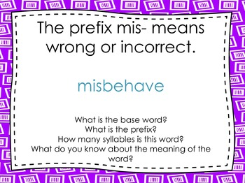 Mid, Mis, Less, and Ness Prefixes and Suffixes