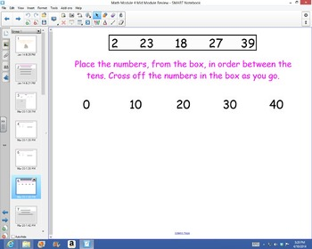 1st Grade Common Core Math Mid-Module 4 Review for Test