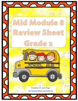 Mid-Module 8 Review Sheet - Grade 2 (Eureka Math / Engage New York)