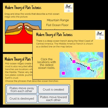 Mid-Ocean Ridges and Ocean Trenches BOOM CARDS