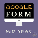 Google Form Student Questionnaire for Reflection and Goal Setting