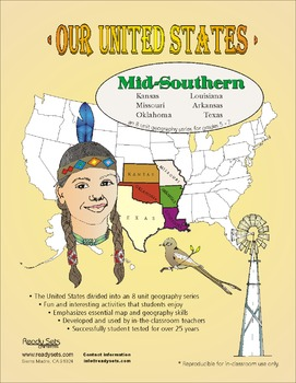 Mid-Southern States-'Our United States Series' 32-Page Booklet