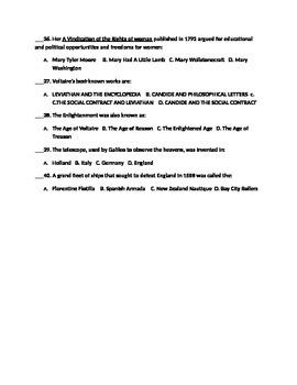 Mid-Unit Assessment