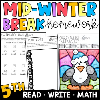 Mid Winter Break Homework Packet 5th Grade