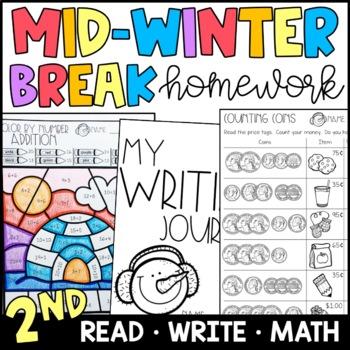 Mid Winter Break Homework Packet 2nd Grade