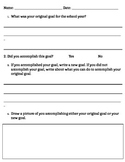 Mid-Year Goal Reflection Sheet (Responsive Classroom)