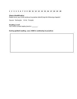 Mid Year Progress Report - Kindergarten
