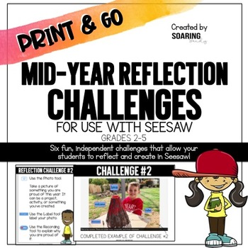 Mid-Year Reflection Challenges   For Use with Seesaw