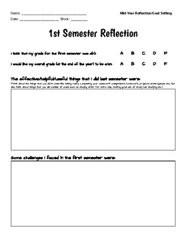 Mid-Year Reflection & Goal Setting Form