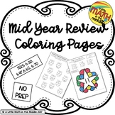 Mid Year Review Coloring Pages, TEKS 6.3D, 6.4F, 6.6C, 6.7D