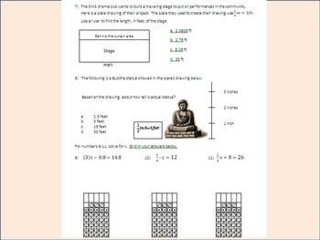 Mid Year Review ~ Middle School Math