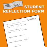 Mid Year Student Reflection Form - Free