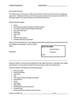 Mid-Year Student Supply List