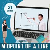 Mid-point of a line segment - 9th - 10th grade (UK GCSE)