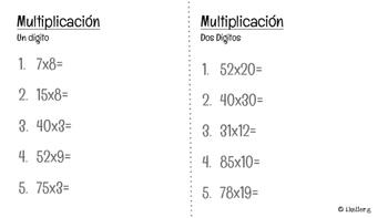 MidYear Math test! 4th graders! SPANISH EDITION