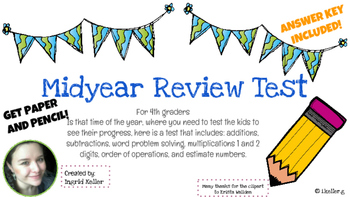 MidYear Review test for 4th graders!