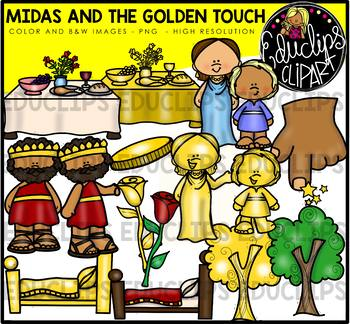 Midas And the Golden Touch Clipart Bundle {Educlips Clipart}