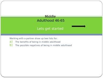 Middle Adulthood