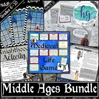 Middle Ages Activities Bundle