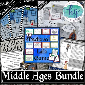 Middle Ages Activities Bundle