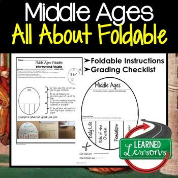 Middle Ages Activity, All About Foldable (Interactive Notebook)