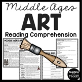 Middle Ages Art and Literature Reading Comprehension Worksheet