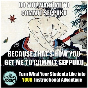 Middle Ages Asia (China & Japan) Themed Classroom Poster Set (Memes)