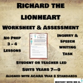 Richard the Lionheart - Middle Ages Assessment Task - Medieval Europe