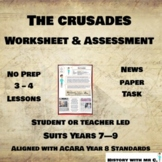 The Crusades - Middle Ages Assessment Task - Medieval Europe