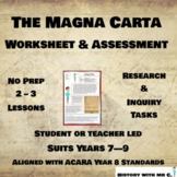 The Magna Carta - Middle Ages Assessment Task - Medieval Europe