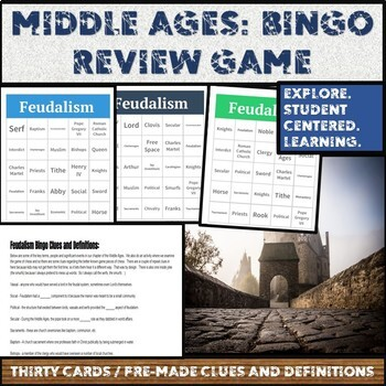 Middle Ages:  Bingo! Review Game