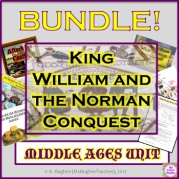 MIDDLE AGES BUNDLE! - The Norman Conquest and King William in 1066!