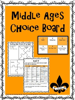 Middle Ages Choice Board