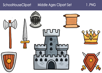 Middle Ages Clipart Set