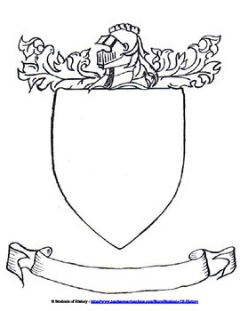 Middle ages coat of arms project by students of history tpt for Make your own coat of arms template