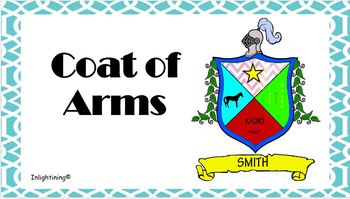 Coat Of Arms Template Worksheets Teaching Resources Tpt