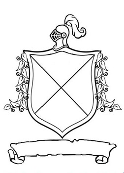Middle Ages Coat of Arms  What's in my Last Name? PowerPoint and Shield Project