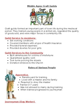 Middle Ages: Craft Guilds