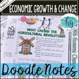 Middle Ages Doodle Notes Set 4 for Economic Change and Gro