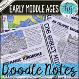 Middle Ages Doodle Notes and Digital Guided Notes Set 1 fo