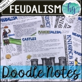 Middle Ages Doodle Notes and Digital Guided Notes Set 2 fo